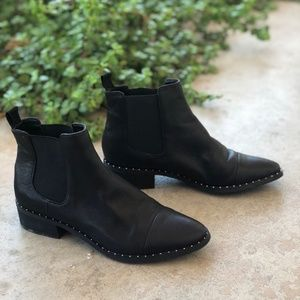 Dolce Vita Leather Studded Chelsea Ankle Boots